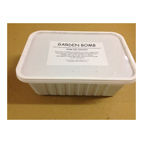 g bomb - Garden Worm Bomb - 12 Tubs (Eggs equivalent to ~12,000 worms)